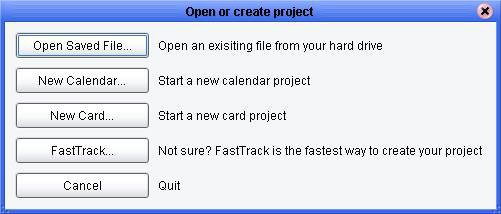 Open or create project