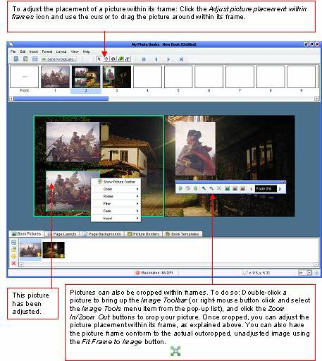 Photo Books software - Adjusting Pictures