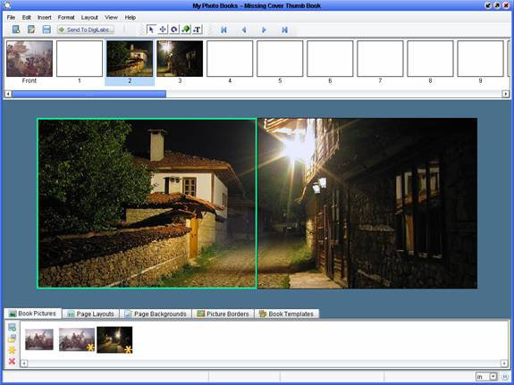 Photo Books software - Two-Page Spread trick