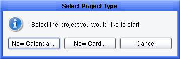 Select Project type