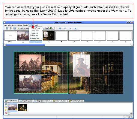 Photo Books software - Aligning pictures